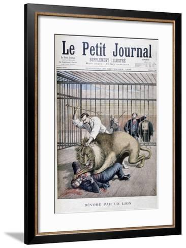 Lion Attack, 1895-Henri Meyer-Framed Art Print