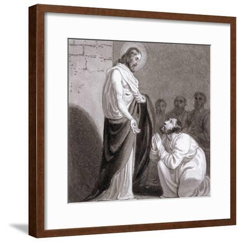 Christ and St Thomas, C1810-C1844-Henry Corbould-Framed Art Print