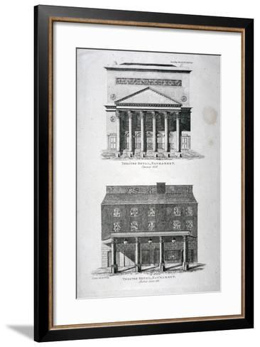The Old and New Haymarket Theatres, Westminster, London, 1822-Hixon-Framed Art Print