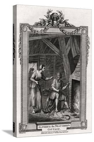 Alfred in the Neat-Herd's Cottage, 1776-I Hall-Stretched Canvas Print