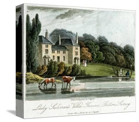 Lady Sulivan's Villa, Thames Ditton, Surrey, England, 1817-I Hassell-Stretched Canvas Print