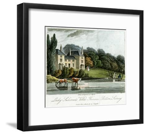 Lady Sulivan's Villa, Thames Ditton, Surrey, England, 1817-I Hassell-Framed Art Print