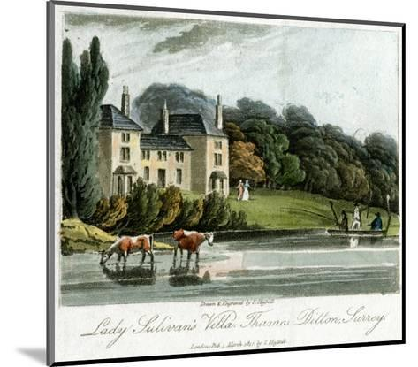 Lady Sulivan's Villa, Thames Ditton, Surrey, England, 1817-I Hassell-Mounted Giclee Print