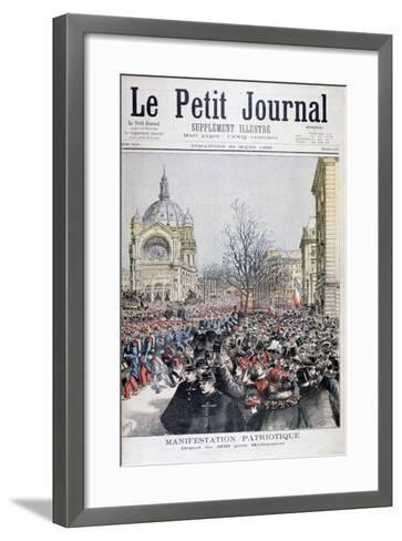 The Departure of French Troops to Madagascar, Paris, 1895-Henri Meyer-Framed Art Print
