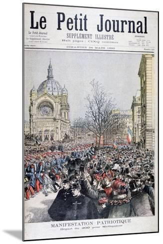 The Departure of French Troops to Madagascar, Paris, 1895-Henri Meyer-Mounted Giclee Print