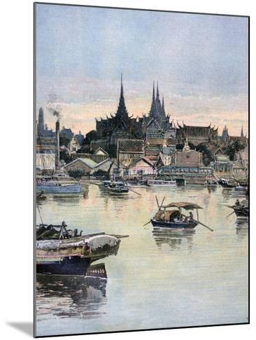 View of Bangkok, 1893-Henri Meyer-Mounted Giclee Print