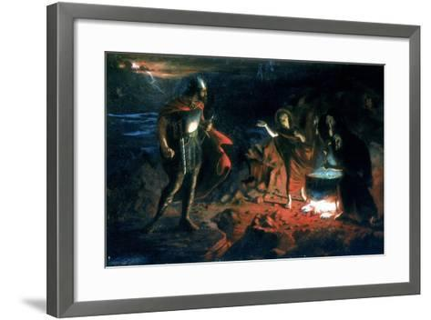 Macbeth and the Witches, Late 19th Century-Henry Daniel Chadwick-Framed Art Print