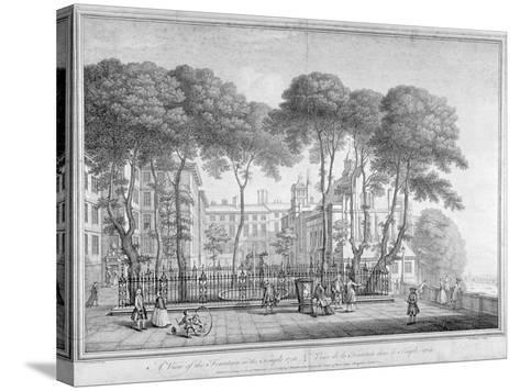 View of Fountain Court, Middle Temple, City of London, 1752-Henry Fletcher-Stretched Canvas Print