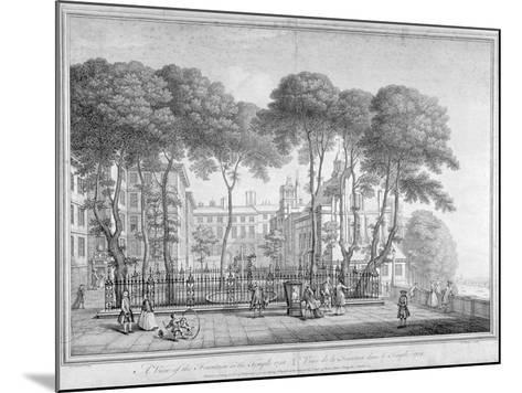 View of Fountain Court, Middle Temple, City of London, 1752-Henry Fletcher-Mounted Giclee Print