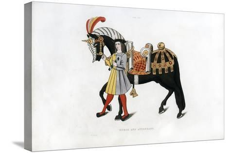 Horse and Attendant, C1511-Henry Shaw-Stretched Canvas Print