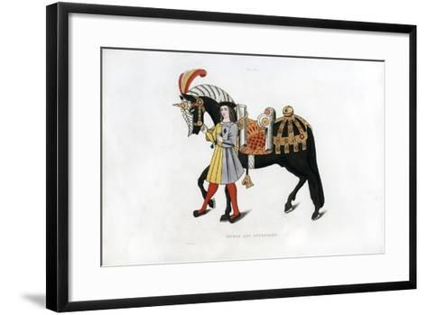 Horse and Attendant, C1511-Henry Shaw-Framed Art Print