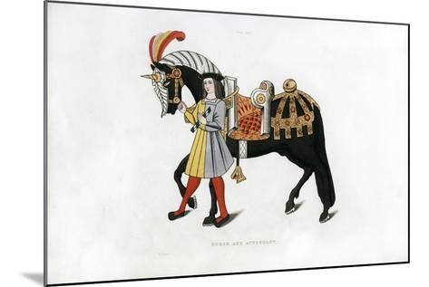 Horse and Attendant, C1511-Henry Shaw-Mounted Giclee Print
