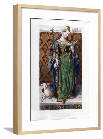 Saint Agnes, C1520-Henry Shaw-Framed Art Print