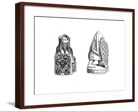 Chessmen, 12th Century-Henry Shaw-Framed Art Print