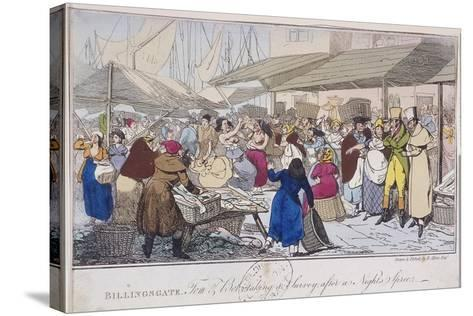 Billingsgate: Tom and Bob Taking a Survey after a Nights' Spree, London, 1820-Henry Thomas Alken-Stretched Canvas Print