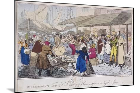 Billingsgate: Tom and Bob Taking a Survey after a Nights' Spree, London, 1820-Henry Thomas Alken-Mounted Giclee Print