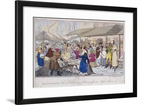 Billingsgate: Tom and Bob Taking a Survey after a Nights' Spree, London, 1820-Henry Thomas Alken-Framed Art Print