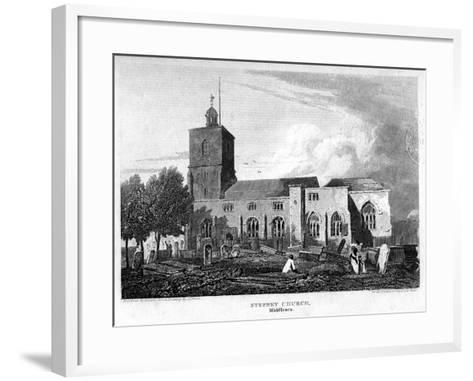 Stepney Church, London, 1815- Hobson-Framed Art Print