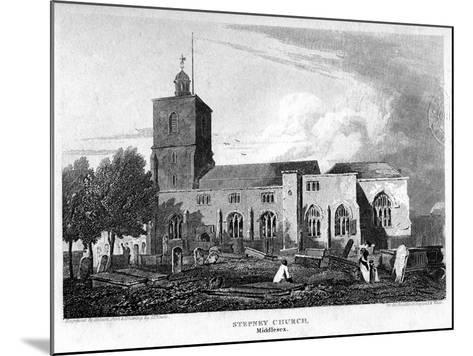Stepney Church, London, 1815- Hobson-Mounted Giclee Print