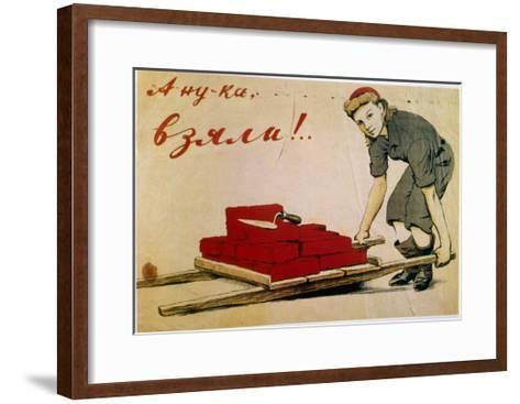 Let's Do It!, Poster, Russian, 1944-I Serebriany-Framed Art Print