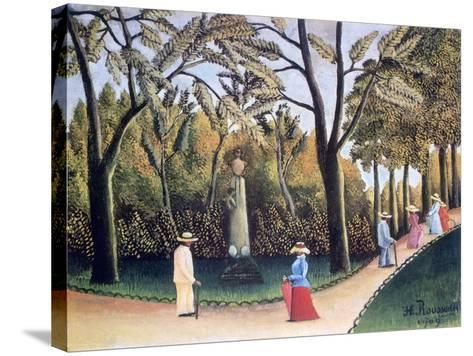 The Luxembourg Gardens, Monument to Chopin, 1909-Henri Rousseau-Stretched Canvas Print