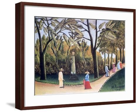 The Luxembourg Gardens, Monument to Chopin, 1909-Henri Rousseau-Framed Art Print