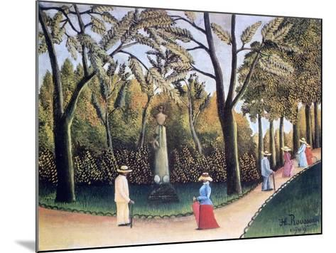The Luxembourg Gardens, Monument to Chopin, 1909-Henri Rousseau-Mounted Giclee Print