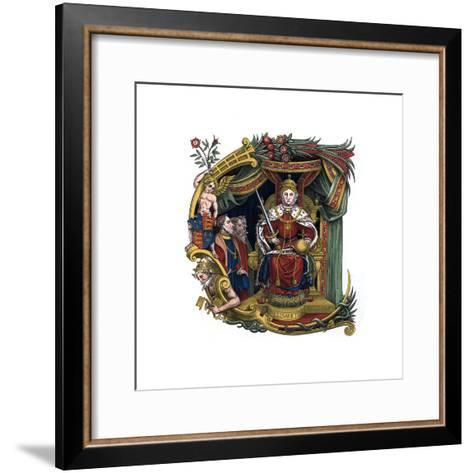 Initial Letter C, 1563-Henry Shaw-Framed Art Print