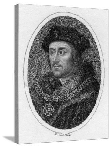 Sir Thomas More, 16th Century English Scholar, Statesman and Martyr, C1819- Holl-Stretched Canvas Print