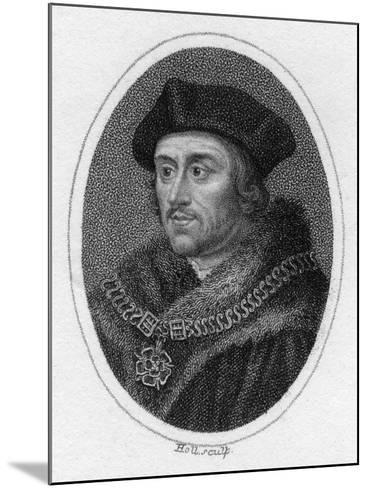 Sir Thomas More, 16th Century English Scholar, Statesman and Martyr, C1819- Holl-Mounted Giclee Print