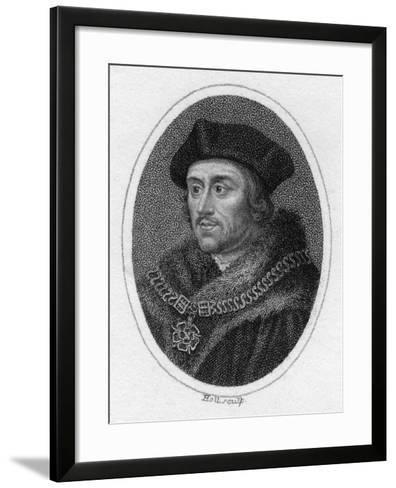 Sir Thomas More, 16th Century English Scholar, Statesman and Martyr, C1819- Holl-Framed Art Print