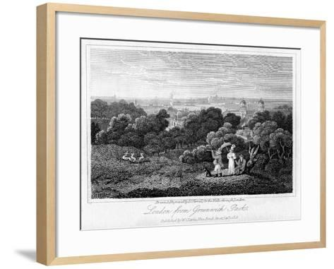 London from Greenwich Park, 1816-I Varrall-Framed Art Print