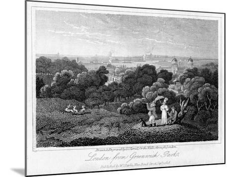 London from Greenwich Park, 1816-I Varrall-Mounted Giclee Print