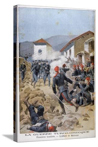 Battle of Meluna, Greco-Turkish War, 1897-Henri Meyer-Stretched Canvas Print