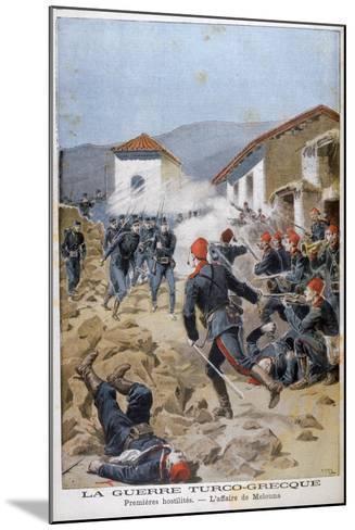 Battle of Meluna, Greco-Turkish War, 1897-Henri Meyer-Mounted Giclee Print