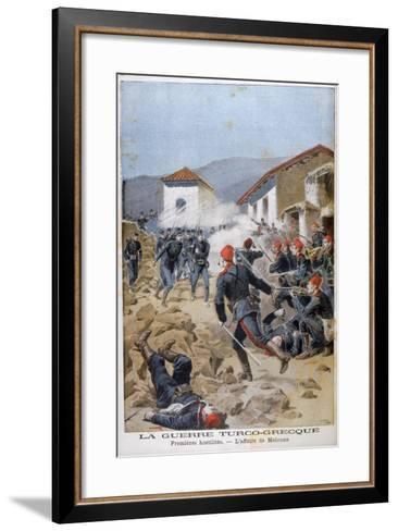 Battle of Meluna, Greco-Turkish War, 1897-Henri Meyer-Framed Art Print