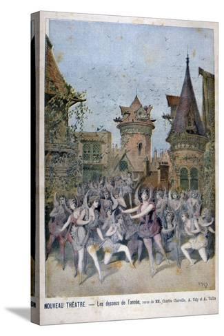 Les Dessous De L'Annee, Revue at the Nouveau Theatre, 1896-Henri Meyer-Stretched Canvas Print