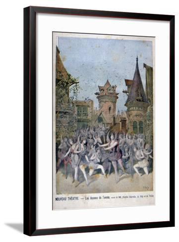 Les Dessous De L'Annee, Revue at the Nouveau Theatre, 1896-Henri Meyer-Framed Art Print