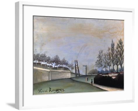 View of Vanves, 1909-Henri Rousseau-Framed Art Print