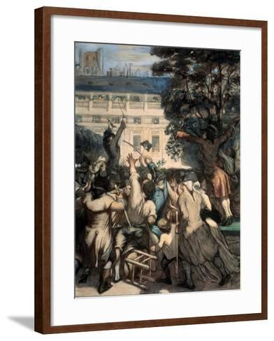 Camille Desmoulins in the Palais Royal Gardens, 1848-1849-Honor? Daumier-Framed Art Print