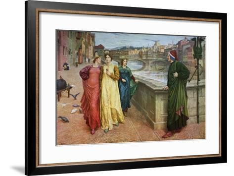 Dante and Beatrice, 1883-Henry Holiday-Framed Art Print