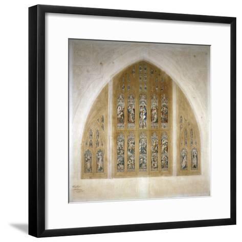 Stained Glass Window Design, 1869-Henry Hughes-Framed Art Print