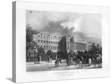 Cumberland Terrace, Regent's Park, London, 19th Century-J Woods-Stretched Canvas Print