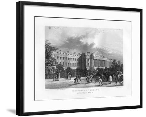 Cumberland Terrace, Regent's Park, London, 19th Century-J Woods-Framed Art Print