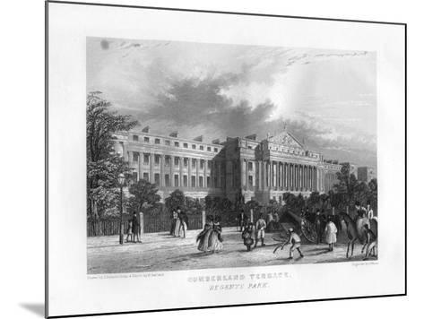 Cumberland Terrace, Regent's Park, London, 19th Century-J Woods-Mounted Giclee Print