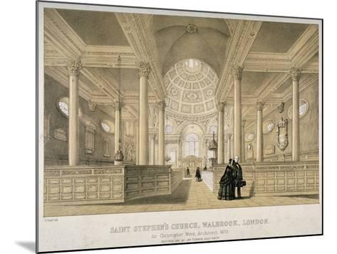 Interior View Looking East, Church of St Stephen Walbrook, City of London, 1851-J Graf-Mounted Giclee Print