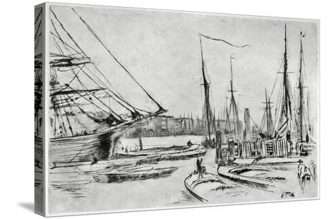 A Sketch from Billingsgate, 19th Century-James Abbott McNeill Whistler-Stretched Canvas Print