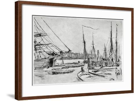 A Sketch from Billingsgate, 19th Century-James Abbott McNeill Whistler-Framed Art Print