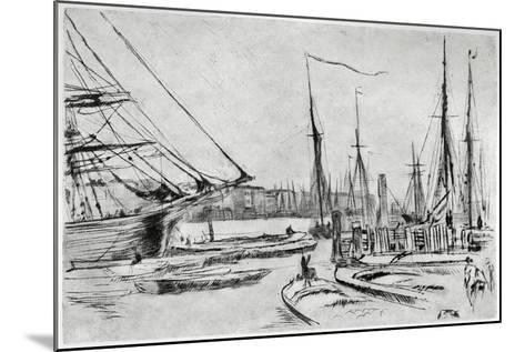 A Sketch from Billingsgate, 19th Century-James Abbott McNeill Whistler-Mounted Giclee Print