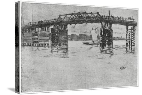 Battersea Bridge, London, 19th Century-James Abbott McNeill Whistler-Stretched Canvas Print